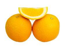 Free Sliced Orange Royalty Free Stock Photo - 28489325