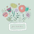 Free Hand-drawn Floral Frame Royalty Free Stock Photo - 28495445