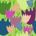 Free Colorful Floral  Seamless Pattern Royalty Free Stock Photography - 28495527