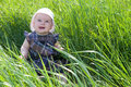 Free Child On Grass Royalty Free Stock Image - 28495556