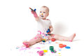 Free Year-old Child With Paint Stock Photos - 28495623