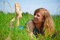 Free Women Lying In Meadow Stock Photography - 28498292