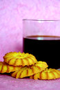 Free Black Coffee And Cookies. Stock Image - 28498671
