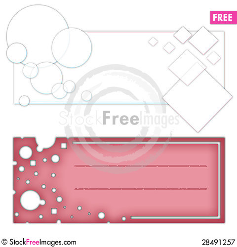 Free Abstract Colorful Banners Royalty Free Stock Photography - 28491257
