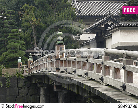 Free Japanese Bridge Royalty Free Stock Photos - 28493748