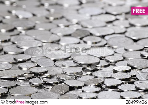 Free Scattering Of Coins Royalty Free Stock Image - 28499406