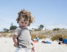 Free Small Boy At Beach Stock Images - 28491644
