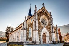 Free Church In French Alps, Saint-Jorioz Royalty Free Stock Photos - 28492678
