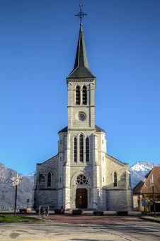 Free Church In French Alps, Sevrier Stock Image - 28492721