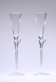 Free Champagne Glasses Empty Royalty Free Stock Photos - 28492858