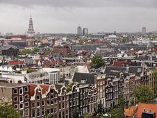 Free Amsterdam - A View From The Roof Royalty Free Stock Image - 28493636