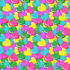Free Seamless Vector Pattern With Hearts Stock Images - 28495394