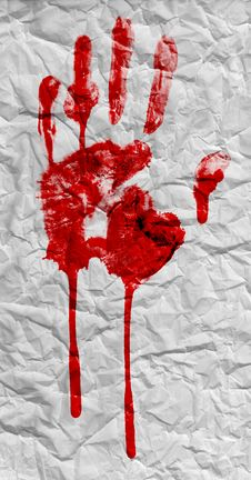 Free Bloody Handprint Stock Images - 28495494