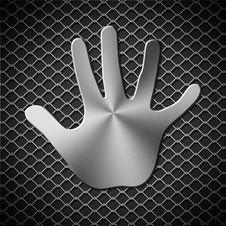 Free Metal Handprint Royalty Free Stock Photography - 28495617