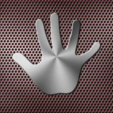 Free Metal Handprint Royalty Free Stock Images - 28495619