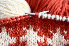 Free Knitting Royalty Free Stock Photo - 28497425