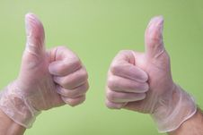 Free Doctor Showing Thumbs Up Royalty Free Stock Photos - 28497808