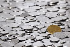 Many Coins Stock Photo
