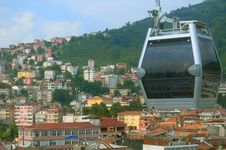 Free Cable Car In The City Of Ordu Stock Photo - 28498550