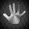 Free Metal Handprint Royalty Free Stock Photography - 28495617