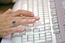 Free Typing On A Keyboard Royalty Free Stock Photos - 2851568