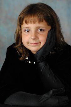 Free Little Lady In Black Velvet Stock Image - 2851611