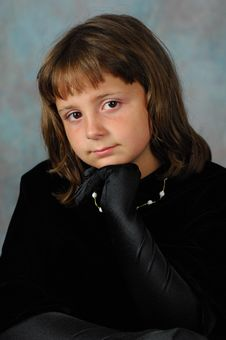 Little Lady In Black Velvet Stock Photos