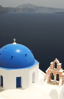 Free Greek Church And Bell Tower Stock Image - 2851841