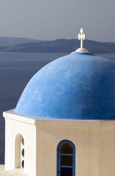 Free Greek Church Santorini Royalty Free Stock Photo - 2851915