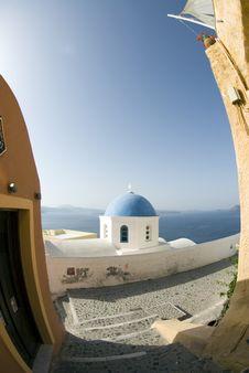 Free Greek Church Santorini Stock Image - 2851921