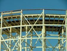 Old Rollercoaster Stock Image