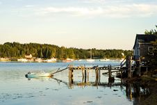 Fishing Shack And Pier Royalty Free Stock Images