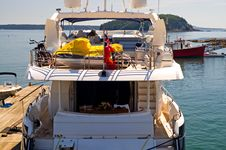 Free Aft Deck Luxury Yacht Stock Photos - 2853493