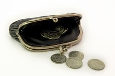Free Purse With Jubilee Coins Stock Image - 2854091