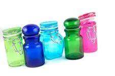 Free 5 Colourfull Jars Stock Images - 2855074
