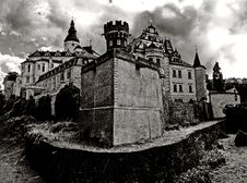 Free Black White Medieval Castle Stock Images - 2855574