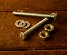 Free Screws On Work Table Royalty Free Stock Photo - 2855665