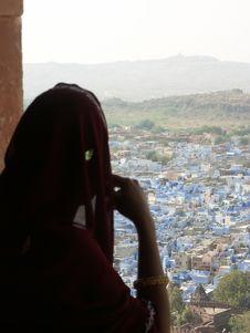 Free Blue City Of Jodhpur Royalty Free Stock Images - 2855679