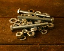 Free Screws On Worktable Stock Photo - 2855720