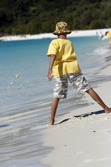 Free Boy At Whitehaven Beach Stock Photos - 2856153