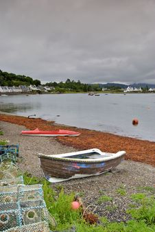 Free Lobster Pots, Plockton Stock Images - 2856334