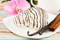 Free Striped Marshmallow On A Saucer With A Vanilla, Cinnamon Stock Photos - 28509863