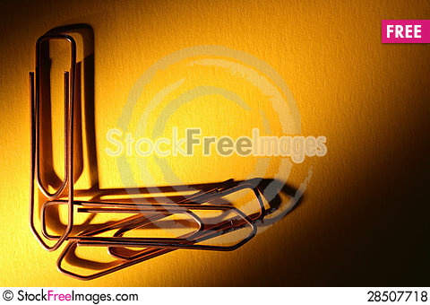 Free Paper Clips Royalty Free Stock Photos - 28507718