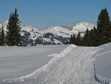 Free Winter Scenery In Gstaad Stock Photo - 28502110
