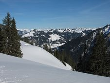 Free View From The Wispile, Gstaad Stock Image - 28502191