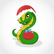 Free Chrismas Snake. Symbol Of 2013 Year. Stock Images - 28502934