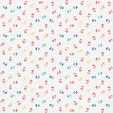 Free Vector Pattern, Little Colorful Flowers On White Stock Image - 28506951