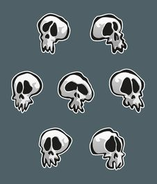 Free Seven Skulls Stock Photo - 28507490