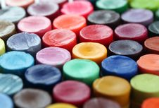 Free Back Of Colorful Crayon Pencils Set  Together Royalty Free Stock Photo - 28507585