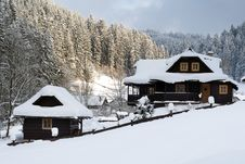 Winter Chalet Stock Photography